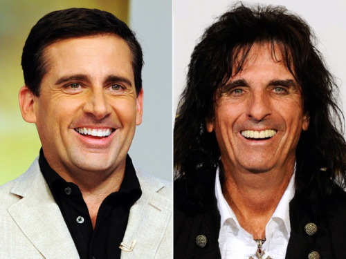 Look-alikes: Funnyman Steve Carell vs. Rocker Alice Cooper