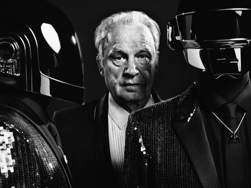 Paris | DAFT PUNK & GIORGIO MORODER in SAINT LAURENT by HEDI SLIMANE
