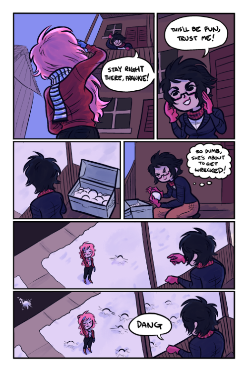 terribeancomics:  Prompt 2: Dynamic Angles goobers in the snow drawn/colored by: rudeezy  heres some art, hopefully more soon