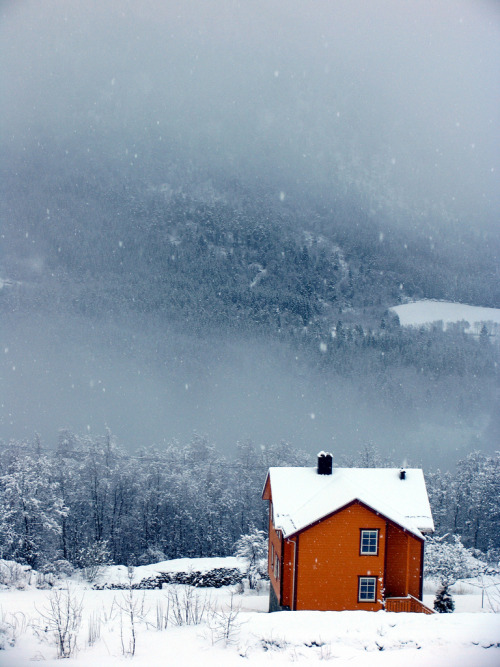 vvolare:  Orange house, blue weather by Erling Siversten