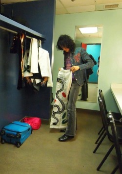 ledzeppelin-the-airshippages:  The dragon suit was a costume worn by Jimmy Page of Led Zeppelin during 10 known concerts in the 70s. It consisted of matching high riding pants and a bolero style jacket, (jacket usually open with no undershirt) emblazoned with red and orange dragons snaking along the whole outfit, along with other colorful runic symbols. The base material was black, although there was a white version as well. It remains the most magnificent rock uniform donned by Mr. Page during Zeppelin's age, complementing the Earl's Court performances of 1975 when it most famously worn. Its creator is somewhat of a mystery, though any correction to that notion is welcome to the legions of Zeppelin's fans, who out of a need for truth would pay cheap credit to Pamela Des Barres.~~(ozonebabys-temple)