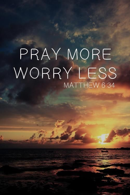"spiritualinspiration:  God doesn't want you to live worried and anxious about anything. He knows that worry is counterproductive. It steals your peace and joy and affects every area of your life, even your sleep! Have you heard the saying, ""Don't worry yourself sick?"" Yes, worrying will actually make you physically ill. You won't ever gain anything by worrying, in fact it causes you to lose precious moments that you can never live again. The good news is, God has promised to bring you victory over worry. When you make the choice to put an end to worry, God will give you His peace"