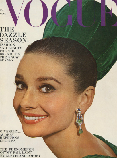 Vogue Cover of the Week: November 1, 1964 featuring Audrey Hepburn by Irving Penn