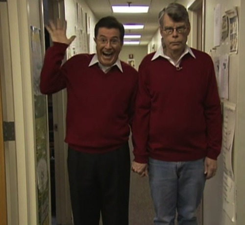 jessehimself:   Stephen Colbert and Stephen King