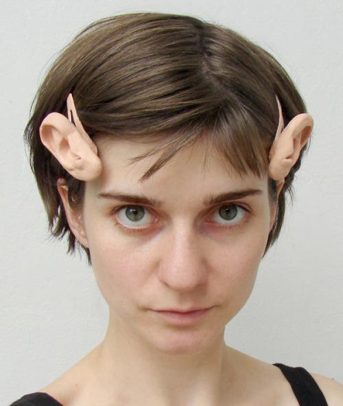 rhettandlink:  laughingsquid:  Wonderfully Unsettling Human Ear Bobby Pins  Terrifying.