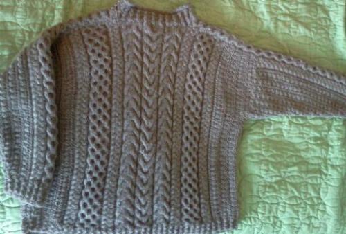 knitting sweater yarn irish finished objects epic