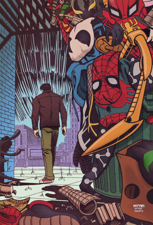 westcoastavengers:  Spider Man No More Once More and then Again…. (really now Marvel) by Marco D'Alfonso  Hilariously accurate