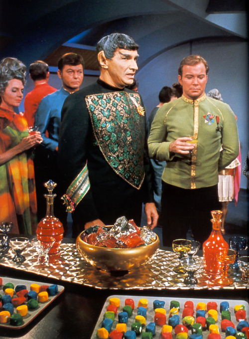 '67 TV's version of futuristic food looks kind of gross. 1967 … Enterprise shindig! (by x-ray delta one on Flickr)