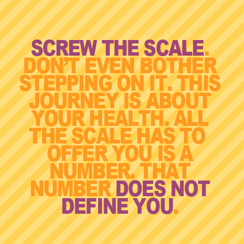 body-peace:  The less time that I spend on the scale or in front of the mirror, the less power I give to those things. I used to have a full sized mirror in my room and I would stand in front of it criticizing myself. Now that the only full length mirror is in the living room that I share with my roommates, I spend a lot less time obsessing in front of it. Not having a scale in the apartment also allows me to focus on my overall health and lifestyle rather than a number on a scale. I don't weigh the same as I did when I was in high school and at the back of my mind, I want to go back to that number. But in retrospect, I wasn't satisfied with that number. I was never satisfied with the number that showed up on that scale. What does that say about body image? It's always more about your mind than your body.