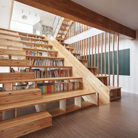Bookshelf stairs!