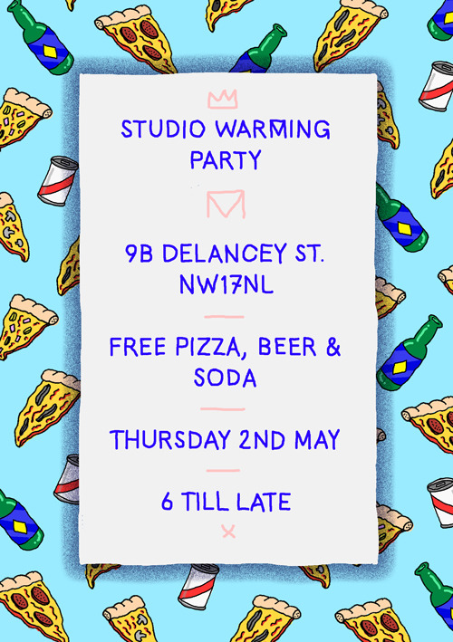 Quick little pizza & beer themed flyer I did for the studio party a few weeks ago.