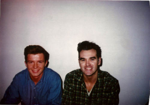 morrissey hanging with rick astley   lol