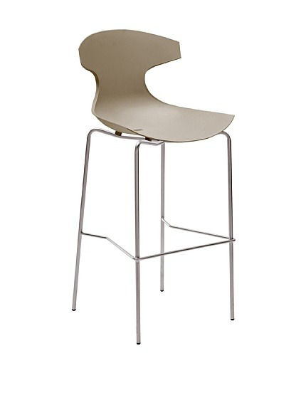 "Domitalia Echo Stool, Sand  Echo is Domitalia's best-selling design, suitable for indoor and outdoor use, stackable Material type: Steel, Polypropylene Country of origin: Italy Authentic product  Item Dimensions: height 44.5"", width 19.75"", depth 21"" Price: $212"