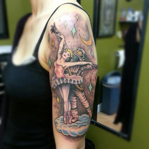 best-tattoos:  Astronaut and Ballerina Craig Secrist, SLC Utah