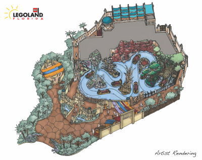 "New interactive water attraction, The Quest for CHI, in World of Chima at Legoland Florida ""This is the first time a theme park has invested in a major expansion concurrently with the rollout of a new brand and product line"" -Legoland Florida General Manager Adrian Jones via Orlando Attractions Magazine"