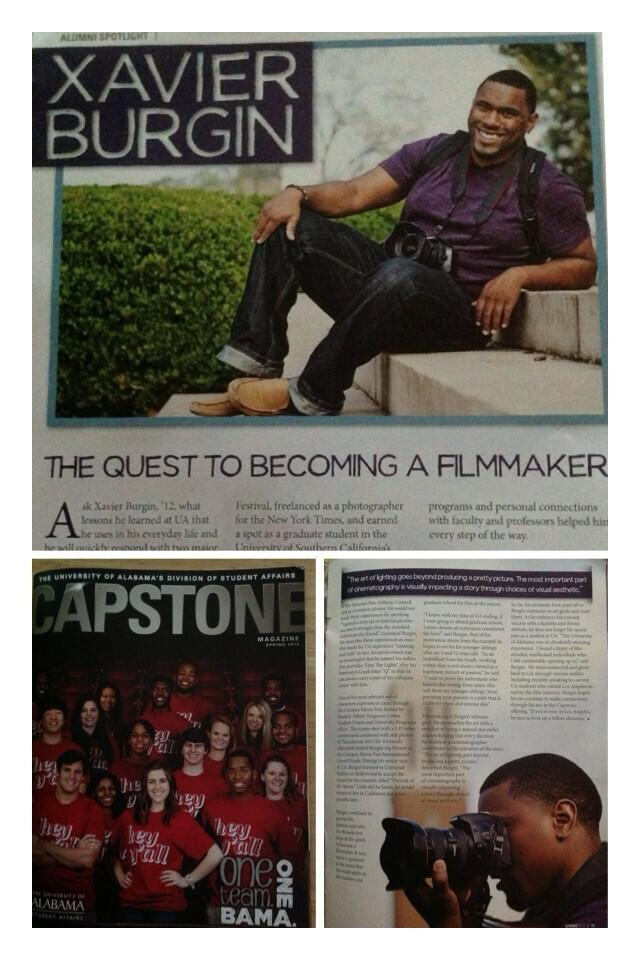 I was featured in this edition of The University of Alabama's alumni magazine The Capstone! Dope!