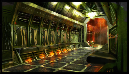 Troop Carrier interior concept  http://lucfonz.blogspot.co.uk/ http://lucfonzy.deviantart.com/