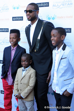 mychocolatecity:  Miami Heat Guard, Dwyane Wade, Hosts Charity Luncheon During NBA All-Star Weekend www.wadesworldfoundation.org