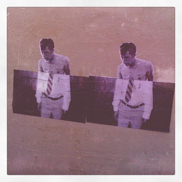 Half dressed stroll in the city #Hollywood #wheatpaste