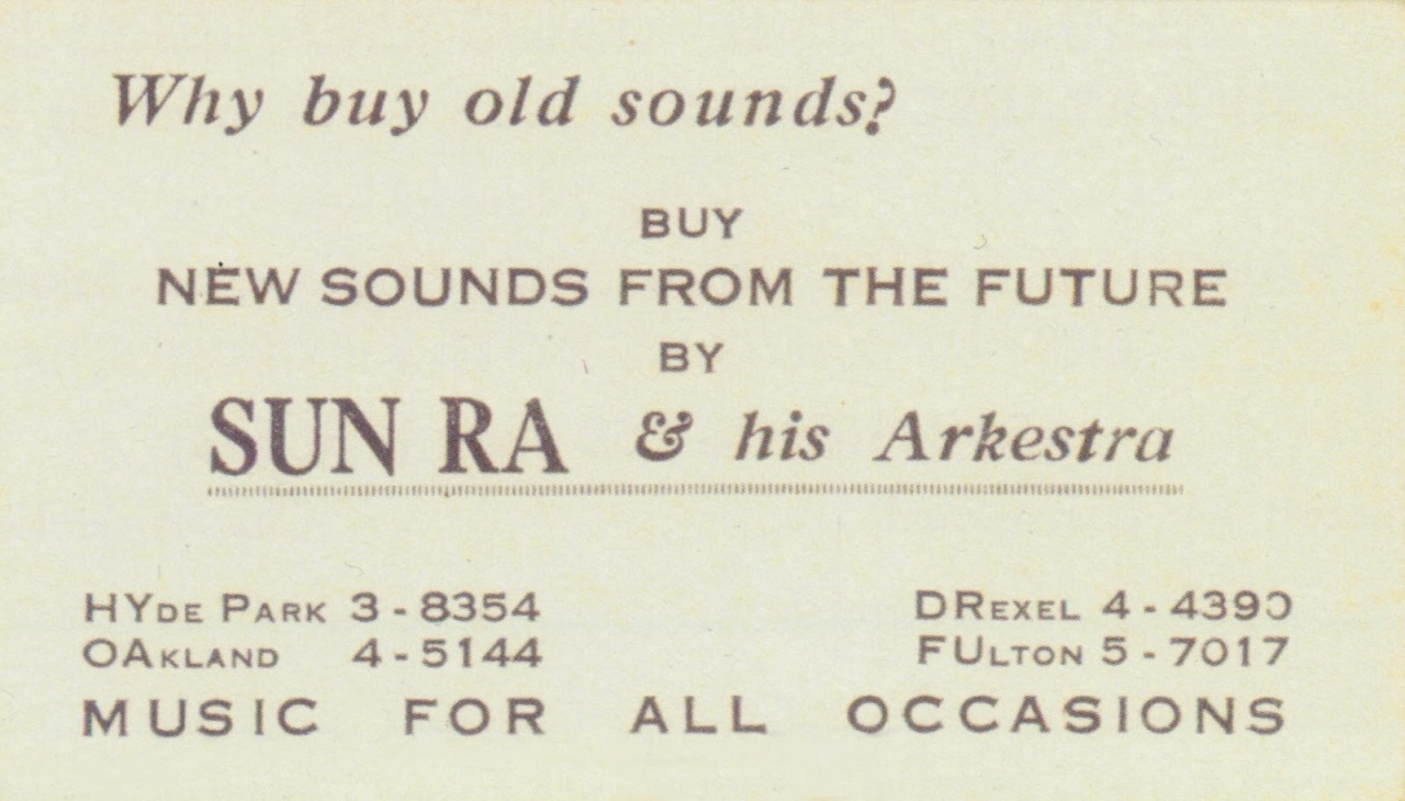raraspeaks:  sun ra business card