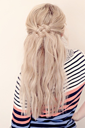 popular-hairstyles:  celtic knot hair.