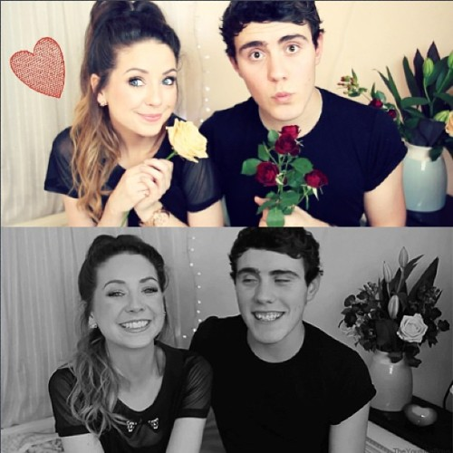 cheekylittlemaoams:  Who ships #zalfie? 😌😘😍🌹💓 #zoella #alfiedeyes #pointlessblogtv