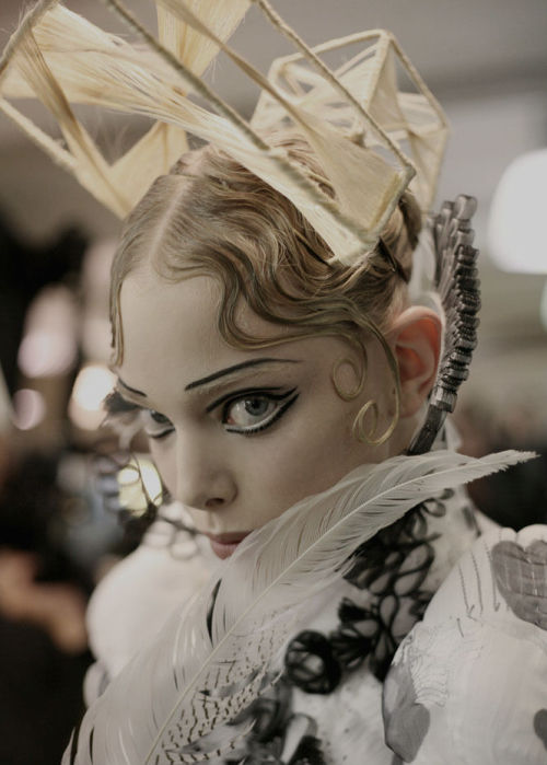 sexrova:  Tanya Dziahileva at Backstage Jean Paul Gaultier Haute Couture Fall 2009