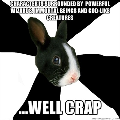 fyeahroleplayingrabbit:  To be fair, the character DOES have a couple superhuman abilities, but when faced with a near-invincible enemy, it does little good.  This is how Briar feels LOL especially after the Storm incident. This is why I keep leveling her/she keeps on training. Even harder now that she's officially part of the family, because as a general's wife if Mel's away at war or something it's her duty to take care of the castle. She knows she could never truly be a match for another legend, but she wants to at least be able to keep them at bay through combined effort of her and the home troops lolol
