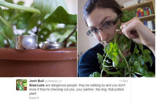 How dare you? My pot plant Basil and I have been happily married for 3 years now and I would never be unfaithful!