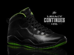 "Air Jordan X ""Black/Neon Green"" Collection via sneakernews.com"