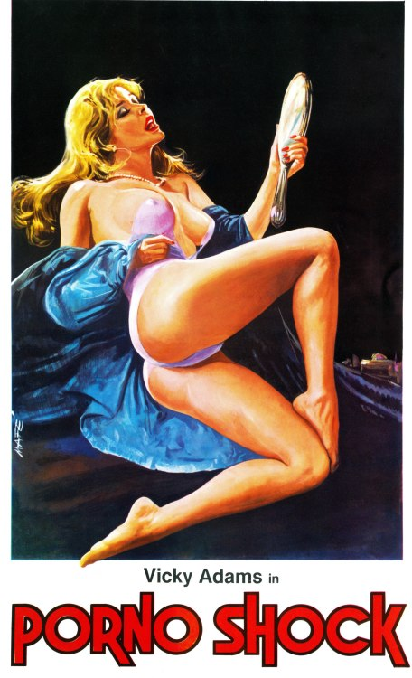 (via Poster for Voodoo Passion (Der Ruf der blonden Göttin, aka Call of the Blonde Goddess, aka Porno Shock) (1977, Switzerland) - Wrong Side of the Art)