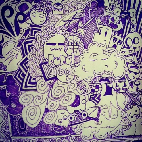 "DODOL :"""""") hihi #doodle #purple #drawing #secret #love #addiction"