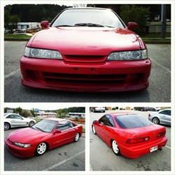 Bump into @mylif3style Clean Ass Red Teggy. #Honda #Integra #DC2 #JDM #Teggy