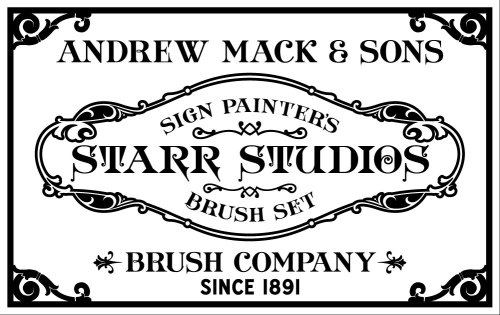COOLEST. NEWS. EVER.We have been using brushes from the Mack Brush Company for over 20 years (they've been making sign painting brushes since 1891 y'all) Mack contacted us a while back about developing a brush series with Starr Studios, and we are happy to announce that we will soon have the Starr Studios Series of lettering brushes available, designed to our specs. These are great brushes that will be a staple for veteran sign painters as well as a killer set for those of you just entering into the trade.We will be posting here as soon as they become available!https://www.facebook.com/pages/Mack-Brushes/260872657770?fref=ts