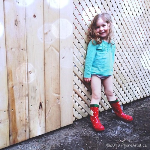 Anything but the bed. #Red #boots