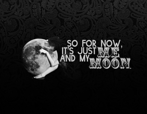 "hitrecord:  ""femme et la lune."" Image by brittanyalyse  Aw, thanks HitRECord! I'm flattered. Inspired by the lovely ""me & my moon"" by aszarkowski <3"