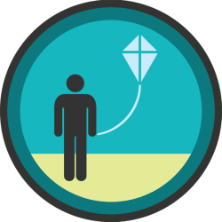 lifescouts:  Lifescouts: Kite-Flying Badge If you have this badge, reblog it and share your story! Look through the notes to read other people's stories. Click here to buy this badge physically (ships worldwide). Lifescouts is a badge-collecting community of people who share their real-world experiences.  We would do our best to fly a kite in the grounds of the school. Also did some on Portsmouth Common. Don't remember much luck due to not having much wind. Was fun to run and throw the kite up. Less so to watch it spin down ten seconds later. BADGES: 27
