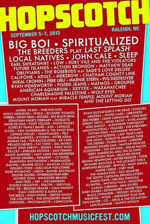 Hopscotch announces 2013 lineup, Big Boi, Spiritualized, Local Natives & many more