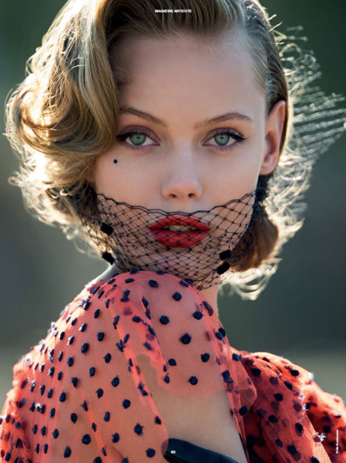 suicideblonde:  Frida Gustavsson photographed by Hans Feurer for Antidote Magazine, Spring/Summer 2013