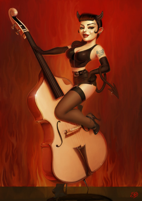 fantasy-women:  Psychobilly Girl From Hellby ~PapaNinja