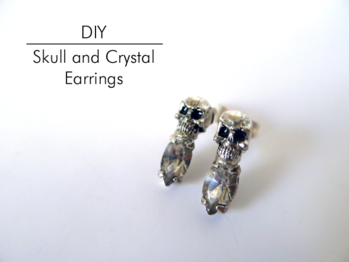 DIY Skull and Crystal Earrings from Thanks, I Made It