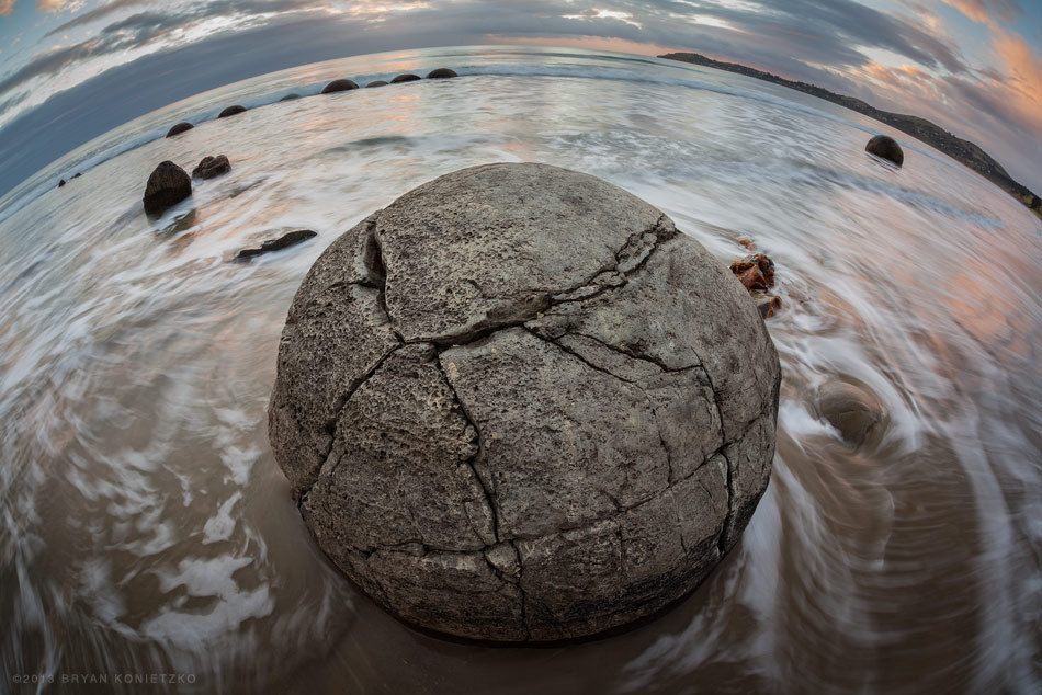 bryankonietzkophotography:  Moeraki Boulder 3 // South Island, New Zealand // 2012 © Bryan Konietzko  I've started a separate Tumblr blog exclusively for my photography. I will be cross-blogging some photos from there to here, but just to be clear, there most likely won't be any Avatar/Korra related posts over there. It will predominantly consist of landscape shots, with some wildlife, urbanscape, and portraiture thrown in there too, and of course photos of my dog. No strict guidelines, just whatever I am into shooting at the time. Right now I'm kicking it off by *finally* getting around to processing some shots from my trip to New Zealand, which was almost a year ago. So come on over to bryankonietzkophotography.tumblr.com if this sort of thing interests you! Thanks!