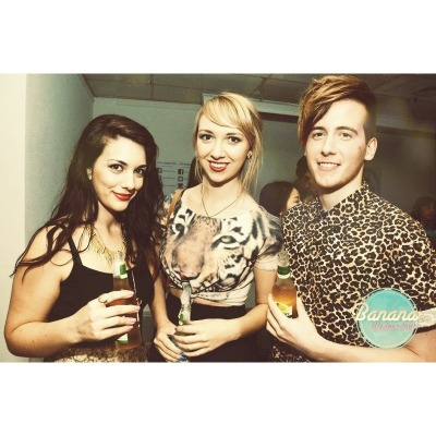 The other night. Jenna, Josh and I at Banana Wednesdays launch.