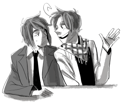 saerok:  blah blah blah korea n hk chatting it up I FORGOT TO DRAW HK WITH HIS HAIR UP boo