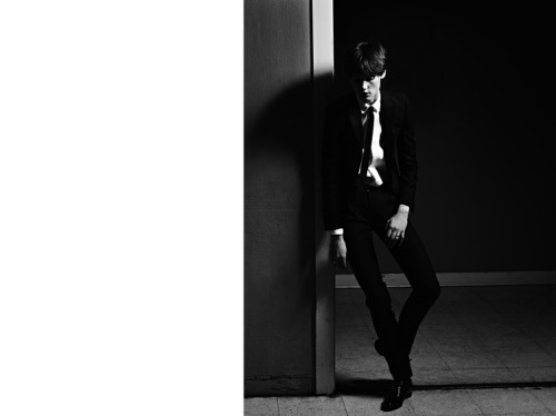 serendipity2012:  Saint Laurent Paris Men Spring 2013 Ad Campaign Model: Saskia de Brauw Photographer: Hedi Slimane