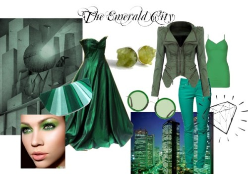 The Emerald City Awaits by melissadawnjewelry featuring cotton tank tops