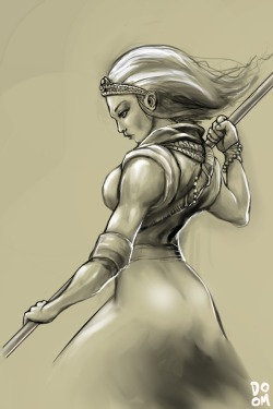 Female Monk sketch in Manga Studio 5