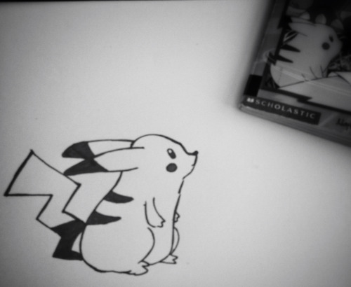 My son's Pokémon book was sitting out so I thought I would draw pikachu.