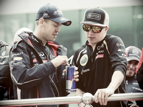 teandkimi:  8/50 photos of Kimi Raikkonen and Sebastian Vettel (Simi)
