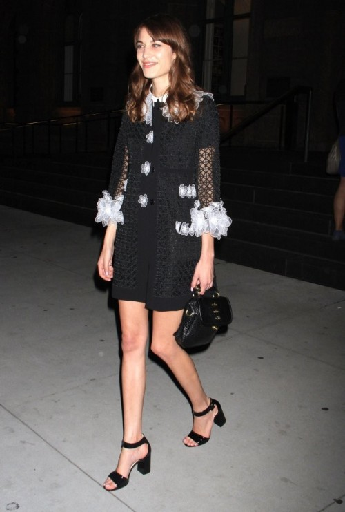 "chung-alexa:  ""Alexa Chung leaving the performance of 'These Girls' in New York City, New York on May 20, 2013."""